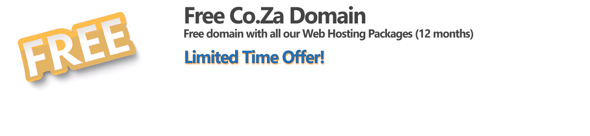 Web Design and Hosting free co za domain