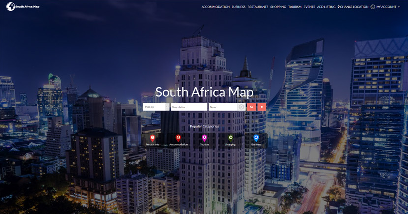 south africa map website