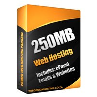 web hosting 250mb