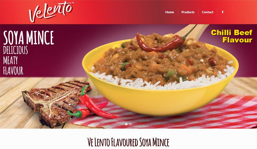 Velento Web Design - Soya Mince Brand - Truda Foods